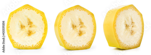 Fotografía Banana slice isolated