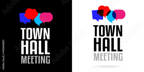 Canvas Town hall meeting on speech bubble