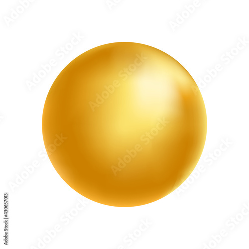 Canvas-taulu Gold sphere