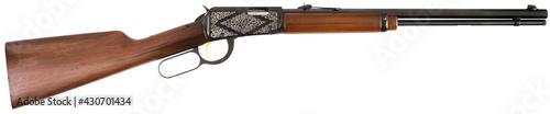 Fotografie, Obraz Winchester rifle gun on white background closeup