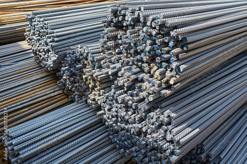 Fotografie, Obraz Close-up of steel bars