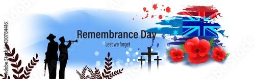 Fotografie, Obraz vector illustration for second world war remembrance day-lest we forget