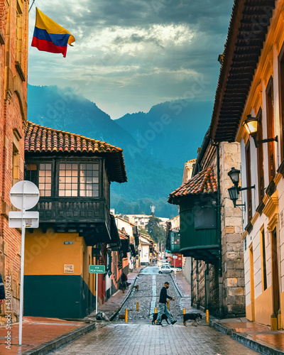 Urban landscape of the city of Bogota (Colombia) located in South America