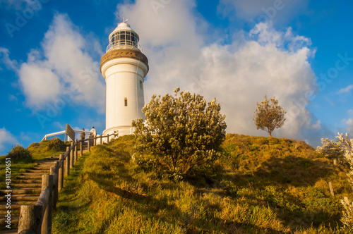 Canvas Morning view of Byron Bay Lighthouse, the most eastern mainland of Australia, New South Wales, Australia