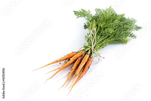 Fotografia freshly picked carrots