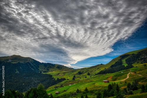 Obraz na plátně Landscape of Gardena Valley, Dolomites