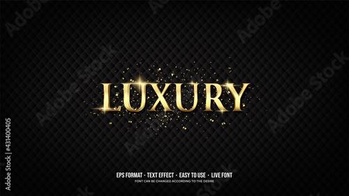 Billede på lærred Editable text effect with luxury gold writing.