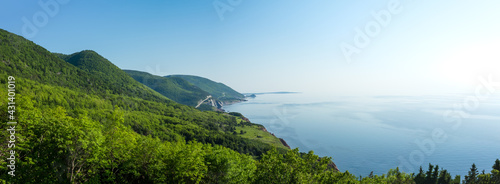 Canvastavla A panoramic view of the Cape Breton Islands along the world famous and most scenic Cabot Trail route, Cape Breton, Nova Scotia
