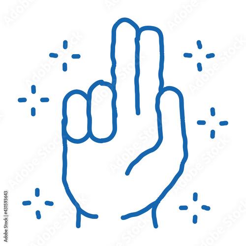 Fotografía baptizes and sanctifies hand doodle icon hand drawn illustration
