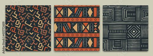 Fotografie, Obraz Africa tribal art ethnic seamless pattern set