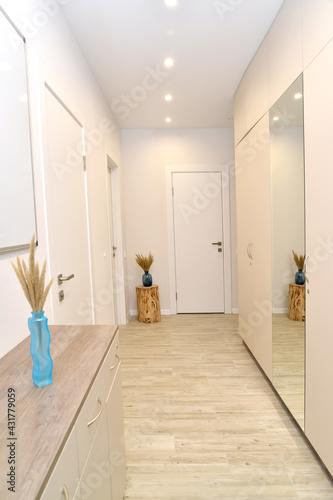 Photo Corridor in light colors. Interior