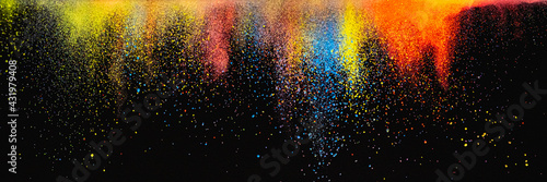 The bright explosion of colorful inkes Fototapet