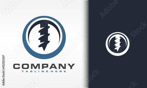 Vászonkép drill circle logo