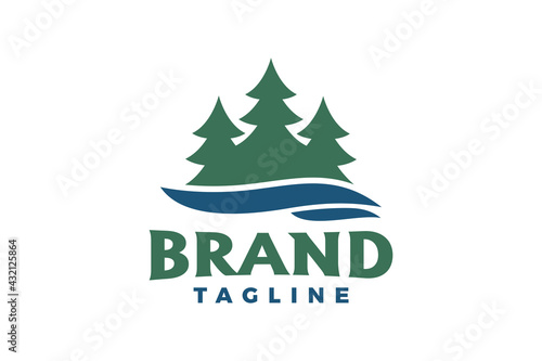 pine river logo Fotobehang