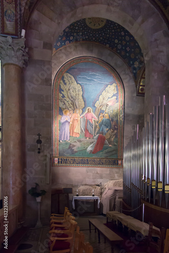 Obraz na plátne Jerusalem, Israel, January 29, 2020: Interior of the Church of All Nations also known as the Basilica of the Agony
