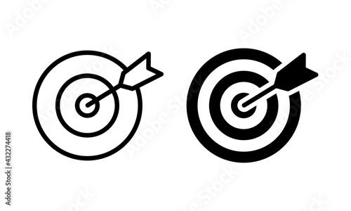 Fotografija Target icon vector. Target symbol vector