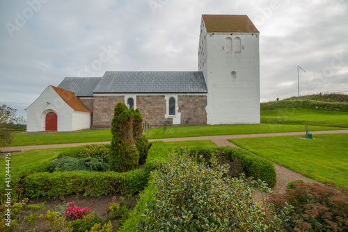 Obraz na plátně Vennebjerg Church in Jutland Denmark no