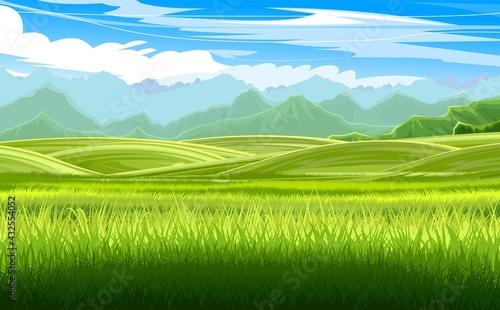 Fotografie, Obraz Beautiful rural landscape