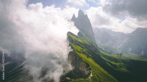 Obraz na plátně The unique cliff of Seceda - The Dolomites - South Tyrol