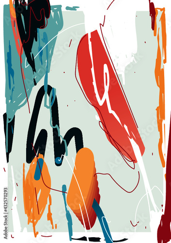 Set of abstract backgrounds. Hand drawn various shapes and doodle objects. Contemporary modern trendy vector illustrations. Every background is isolated.