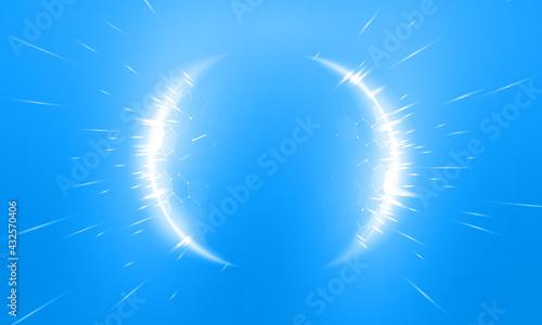 Fotografie, Tablou Bubble shield futuristic vector illustration on a blue background