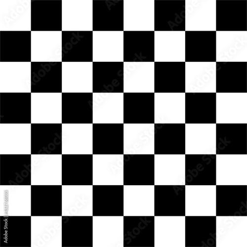 Fotografia CHESSBOARD AND CHECKERBOARD BLACK AND WHITE SQUARES