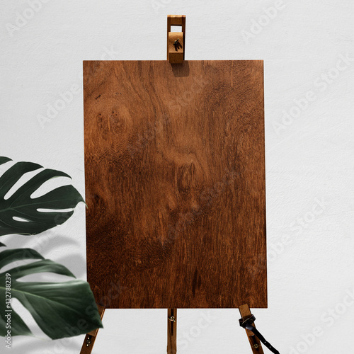 Wooden board easel sign with stand Fototapet