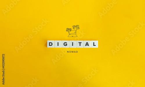 Fotografie, Obraz Digital Nomad Banner and Concept
