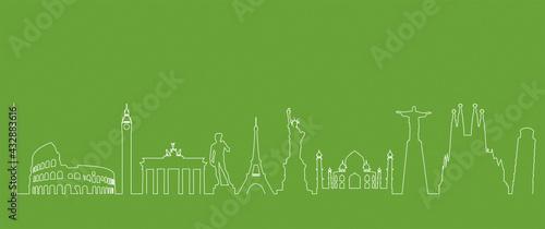 Obraz na plátně turismo, mondo, monumenti, viaggi, vacanze