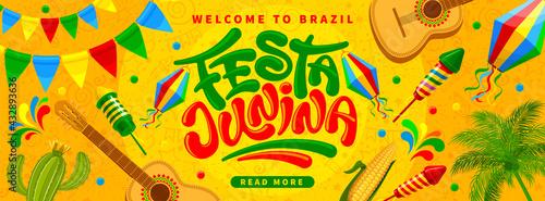 Canvastavla Festa Junina Brazil Festival banner template