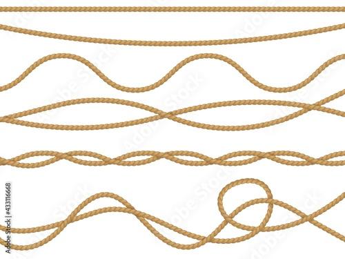 Fotomural Fiber ropes realistic