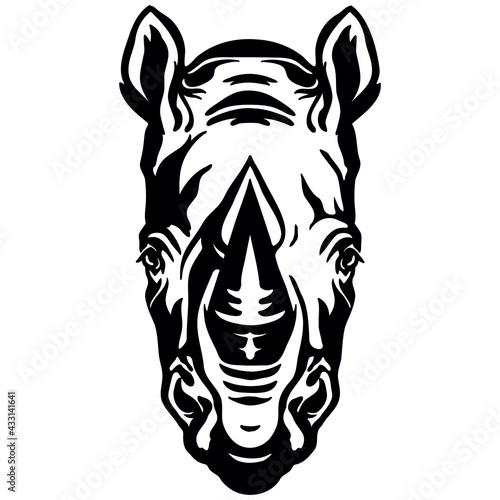 Photo Vector head of mascot rhino head isolated on white