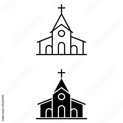 Canvas Print Church icon vector set