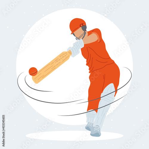 Obraz na plátně cricket athlete player