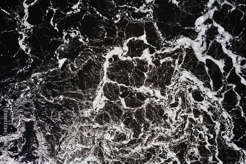 Fotografie, Obraz River water background with whirlpools and waves, top view