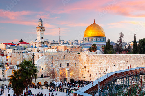Fototapeta Old Jerusalem, Israel at Dusk
