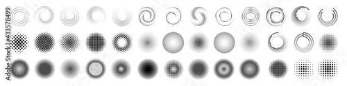 Fototapeta halftone dot circle frame vector