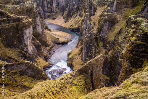 Valokuva Fjaðrárgljúfur, Iceland mossy green canyon with breathtaking views