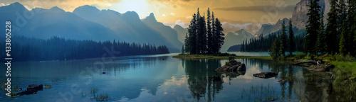 Fotografie, Obraz wonderful lake in the mountain outside the city