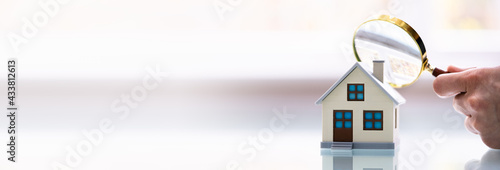 Real Estate House Inspector Checking Property