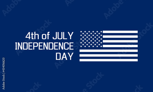 Fotografia, Obraz 4th of july - usa independence day, holiday banner or social media post template