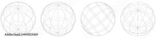 Tela Sphere, orb, ball with wireframe, grid, mesh surface