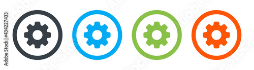settings icon set. Vector illustration