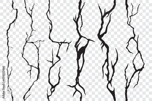 Obraz na plátne Seamless cracks in the wall, plaster or ground