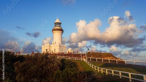Obraz na plátne Cape Byron Bay Lighthouse at Sunset