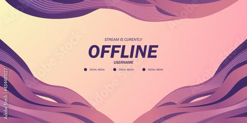 Obraz na plátně abstract fluid liquid wave trendy background dynamic for offline stream twitch l