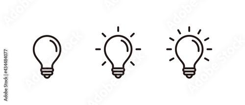 Billede på lærred Light Bulb icon set, Idea icon symbol vector