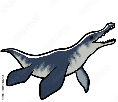 Платно Simple and realistic Mosasaurus material