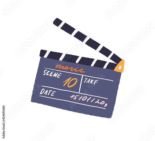 Fotografía Slate clapperboard for video production