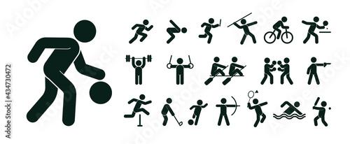 Fotografia sports icons set. Vector Illustrations.